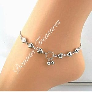 Jewelry - ⛱Silver Heart Anklet